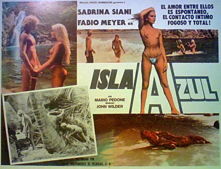 TOPLESS-BLONDE-BABES-BLUE-ISLAND-Sabrina-Siani-Fabio-Meyer-LOBBY-CARD-1982